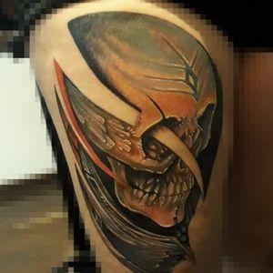 #Skull #biomechanical #CalaveraTattoo