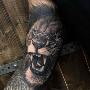 Lion on the inner bicep
