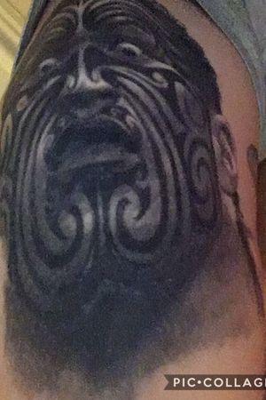 Warrior #newzealand  #maori  #maoritattoo  #blackandgrey  #realism  #warrior  #man  #tattooartist