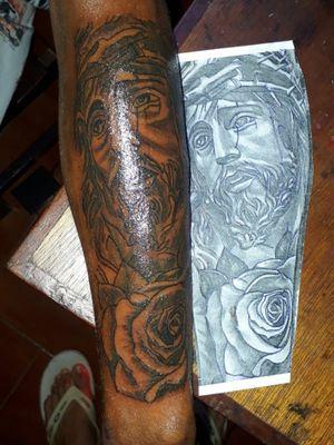 Aquela fé !! #tattorealismo #tattolife #tattopreto #tattorua
