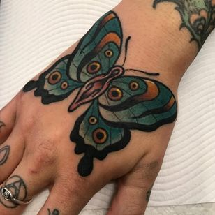 By @melaniemilnetattoos at #LDFTattoo #australianartist #femaletattooartist #ColorfulTattoos #butterfly #neotraditional