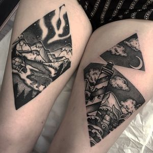 Scenery pieces! Right is fresh left is healed.