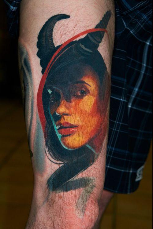 Healed 1 year old tattoo #darkbeauty #healed #alminztattoo