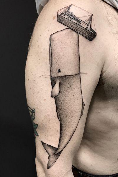 """""""Humility and respect"""" - INSTAGRAM: _mfox #art #tattoo #tattoos #whale #italy #arts #tattooartist #tattooart #ink #inked"""