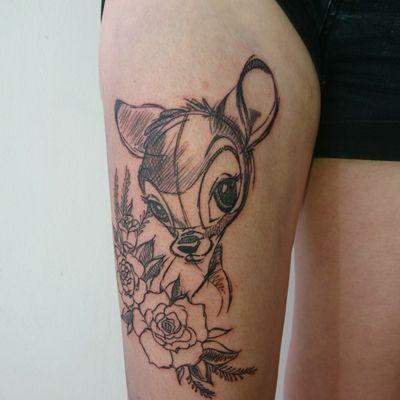 #bambi #sketchtattoo #sketch #fineline #munich #disney