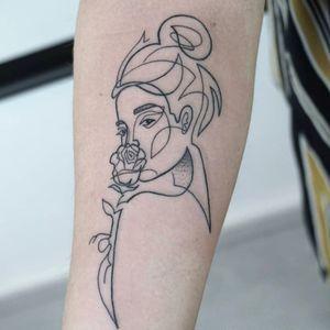 Tattoo by:Doresz #linework #lines #girlswithtattoos #tattooartist #budapesttattoo