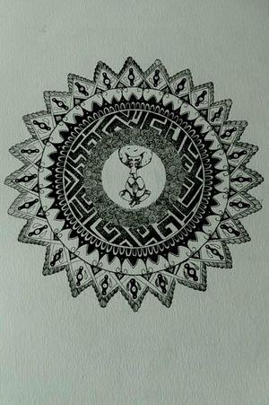 Mandala with roger