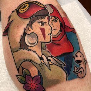 Tattoo by Chris Mesi Tattoo #ChrisMesiTattoo #animetattoos #anime #manga #newschool #color #Kodama #princessmononoke #portrait #studioghibli #HayaoMiyazaki