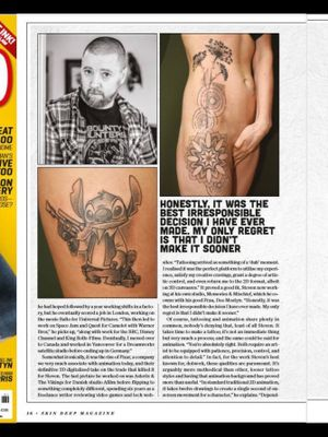 Interview published in Skin Deep Magazine
