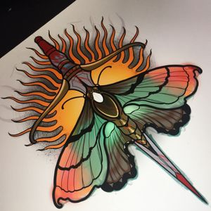 For tattoo appointments email me willemxsm@live.nl #neotraditional #tattooart #mothtattoo #vault13 #willemxsm #venlo #netherlands #eindhoven