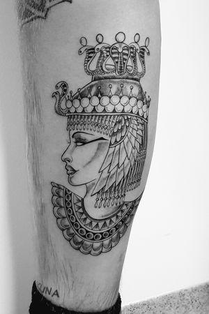Egyptian Cleopatra head snakes tattoo