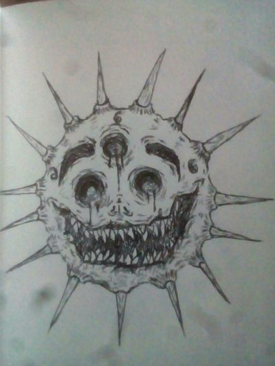 #creepy #blood #horror #macabre #death #scary #creepypasta #nightmares #devil #sun #tattoo #tattooart #tattoos #space #666