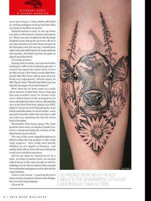 Artwork published in Skin Deep Magazine