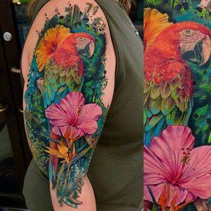 #macaw #realismtattoo #tattoorealistic #birdtattoo #artbytodo #realism #tropicallife #grungetattoo