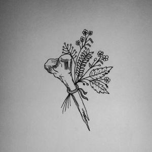 🌛Witchcraft Herbs🌜 👯✌ #tete #sketch #sketchtattoo #witchtattoo #witchy #witch #witchcraft #design #tattoo #darktattoo #apprenticetattoo #tattooapprentice #apprentice #bone #flowers