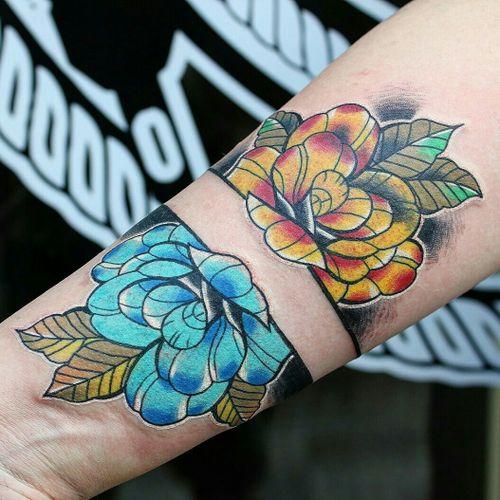 Cover up aborted handpoke tattoo  #TONDRIKTATTOO