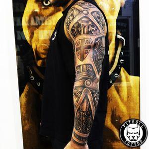Biomechanical tattoo, Black and grey style. #biomechanicaltattoo #biomechanical #blackandgrey #arm #armsleeve #sleevetattoo #sleeve #sleeves #patong #phuket #thailand