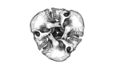 Infinite skull 💀 #skulltattoo #skulls #infinity #infinite Designs by Alex Velazquez @x2creator