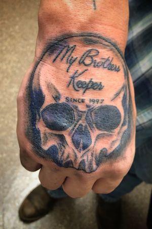 My Brothers Keeper / Skull / Hand Tattoo