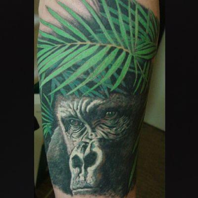 #tattoo #tattooart #tattooartist #gorilla #jungle #realistic #realism #tattoolove #fkirons #painarttattoo