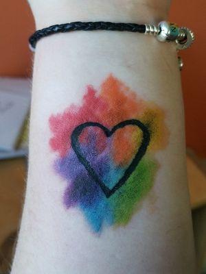 #pride #pridetattoo #colourfultattoo #happy #equality