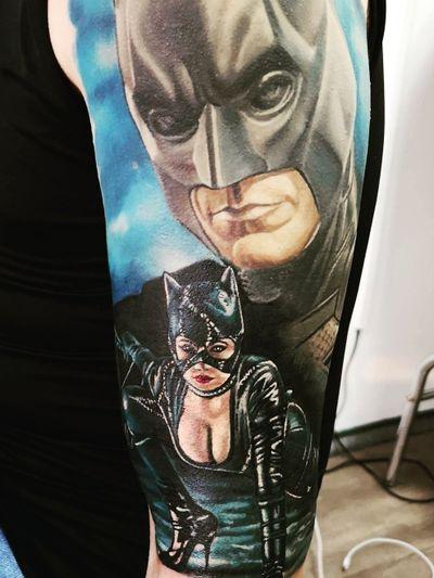 #batman #Catwoman #sleeve #dc #superhero #realistic