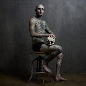 Rick Genest #RickGenest #bodysuit #bodymodification #zombieboy