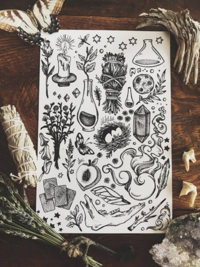 #magic #crystals #plants #witch #witchcraft #unknownartist