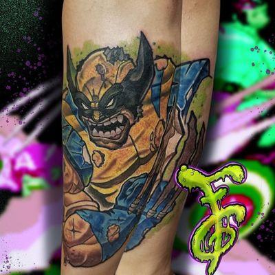 Bone Claw Wolverine #NewSchoolArtist #newschooltattoo #newschool #illustration #illustrative #videogames #videogametattoos #popculture #colortattoo #color #charactertattoos #characters #nerdtattoo #geektattoos #cartoontattoo #cartoon #animetattoo #anime #wolverine #wolverinetattoo #XMenTattoo #xmen #MarvelTattoos #Fuzzimusgrime