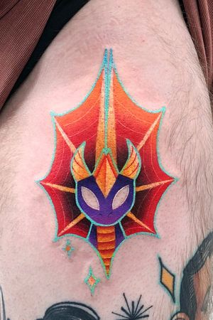 Spyro was my favourite game when I was younger! Love this tattoo! It was a pleasure! ✨💕 #spyro #spyrothedragon #spyrotattoo #dragontattoo