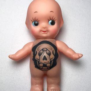 Tattooed Kewpie by Sofia Ripper #SofiaRipper #apprentice #tattoo #illustration #tattooflash