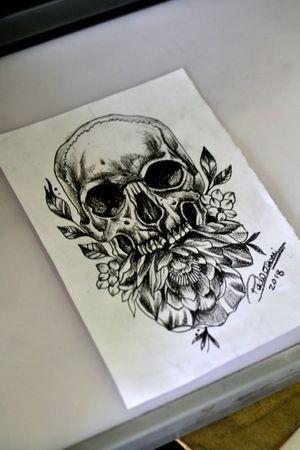 #skull #caveira #tattoosketch