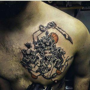 Kali tattoo Black & Grey