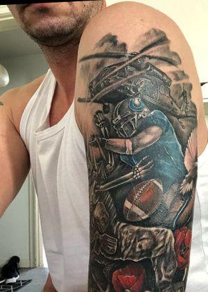 My tattoo ☺️ Ptsd get's a hit by nfl player 😎 #NFL #PTSD #gocolts