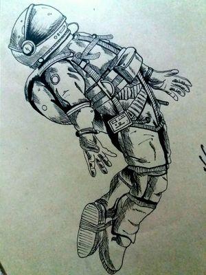 Astronauta, puntillismo