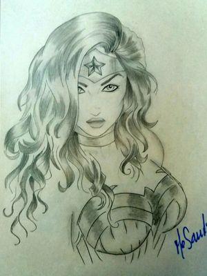 Mujer maravilla, lápiz