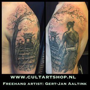 Freehand piece in muted tones. #realism #realistic #freehandtattoo #netherlands #nijverdal #dutchtattoo