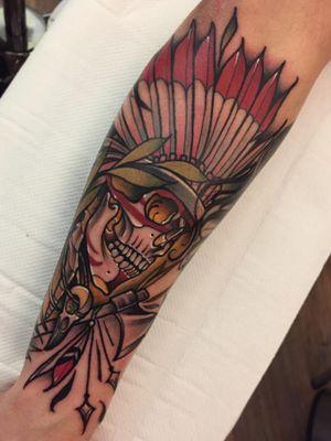 American Indian chief #neotraditional #neotrad #neotradsub #tattoo #ink #colors #rose #rosetattoo #skull #skulltattoo #trad #Edinburgh #edinburghtattoo  #uk  #uktattoo  #thebestoftheday #girl #girls #girltattoo #face #tattooed #inkspiration #art #customdesign #design #scotland #scotlandtattoo #death #instagram #neotradiotionaltattooers
