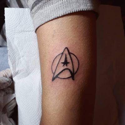 #tattoo #art #tatuagem #startrek #tattooart #tatuagemfeminina #finelinetattoo