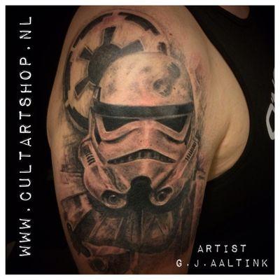 Stormtrooper #blackandgrey #tattooartist #tattooart #stormtrooper #cultart #tattooart #tattooartist