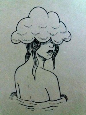 Mujer, puntillismo