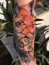 Neotraditional Fox #neotraditional #neotrad #neotradsub #tattoo #ink #colors #rose #rosetattoo #skull #skulltattoo #trad #Edinburgh #edinburghtattoo  #uk  #uktattoo  #thebestoftheday #girl #girls #girltattoo #face #tattooed #inkspiration #art #customdesign #design #scotland #scotlandtattoo #death #instagram #neotradiotionaltattooers