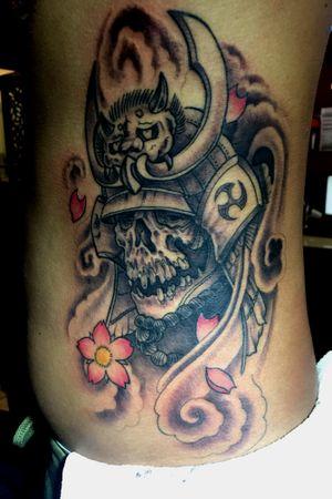 #japanese #samurai #skull #cherryblossom #japanesetattoo