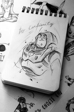 Buzz Lightyear #buzzlightyear #ToyStoryTattoo #Toystory #disneytattoo #disney #Pixar #sketchtattoo #sketchstyle #sketch