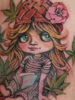 blythe doll marijuana tattoo