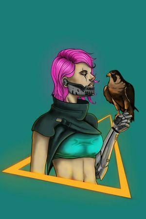 Cyberpunk Huntress