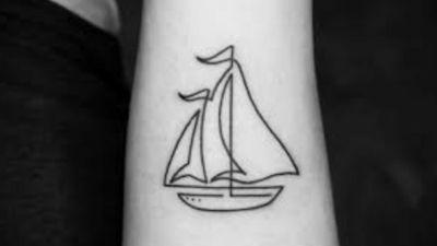 Ship tattoo, uploaded from google. #sailor #sea #seatattoo #shiptattooo