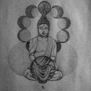 Buddha #dotworktattoo #dotwork #budatattoo #pontilhismo