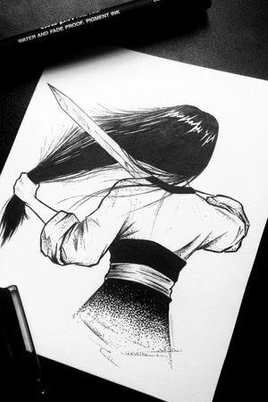 Mulan ***DISPONÍVEL*** #disneyprincess #disneytattoo #disney #tattooart #tattooartist #draw #drawing #sketchtattoo #sketch #dotworktattoo #dotwork #mulan