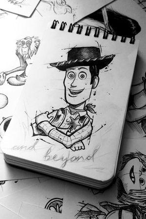 Woody #buzzlightyear #ToyStoryTattoo #Toystory #disneytattoo #disney #Pixar #sketchtattoo #sketchstyle #sketch #woody